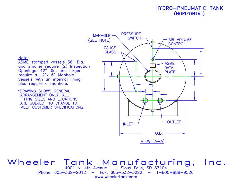 hydropneumatic-tank-horizontal